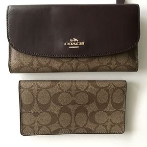 Authentic Coach trifold wallet